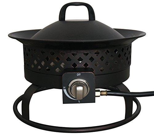 Bond Manufacturing 67836 Aurora Steel Gas Firebowl, Rubbed Bronze