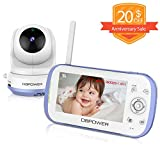 DBPOWER Video Baby Monitor with 4.3' LCD Split Screen-Viewing Up to 4 Cameras, Long Range Two Way Talk, Night Vision, Support MicroSD Card(not Included), Pan-Tilt-Zoom, Lullabies, Temperature Monitor
