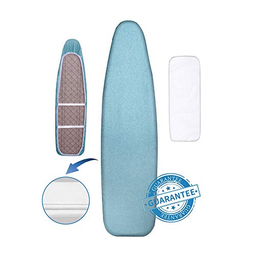 Hansprou Silicone Coating Ironing Board Cover and...