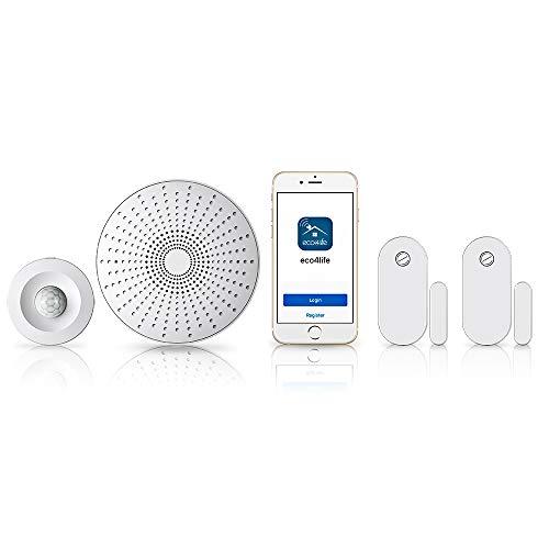 eco4life-Smart-Home-DIY-Wireless-Smart-Phone-APP-Control-Alarm-Security-System-Kit-Gateway-Siren-DoorWindow-Sensor-Motion-Sensor-Works-with-Alexa-Google-Assistant-IFTTT-Easy-to-Install