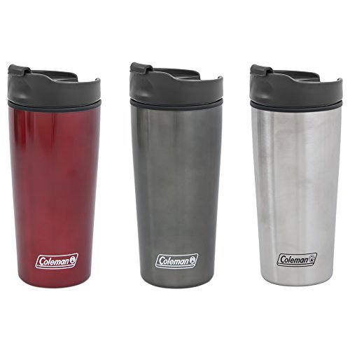 Coleman Stainless Steel/Polypropylene Travel Mug, 16-Ounce, Assorted Colors