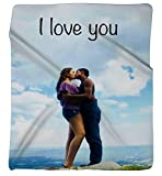 Personalized Photo Throw Fleece Blanket 80' x 60'. Made From Your Photos. Makes the Perfect Present or Keepsake!