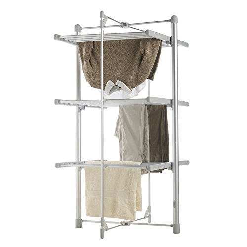 VonHaus Heated Clothes Drying Rack, Foldable 3 Tier Indoor Electric Laundry Airer