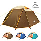 ZOMAKE 2 Person Tent, Lightweight Backpacking Tent Waterproof 3 Season Camping Tent Easy Setup Great for Outdoor, Hiking, Mountaineering