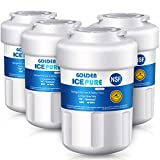 GOLDEN ICEPURE MWF Refrigerator Water Filter, Compatible with ge mwf water filters for refrigerators, MWFP,MWFA, GWF, GWFA, Kenmore 469991, 4-PACK