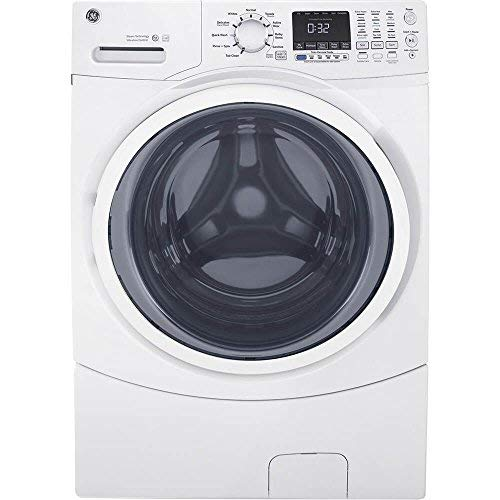 GE GFW450SSMWW Front Load Steam Washer, 4.5 Cu. Ft. Capacity, White,