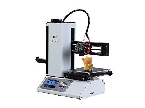 Monoprice Select Mini 3D Printer v2 - White Heated (120 x 120 x 120 mm) Build Plate, Fully Assembled + Free Sample PLA Filament MicroSD Card Preloaded Printable 3D Models