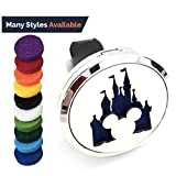 FIKA - Mickey Mouse Car Air Freshener Vent Clip Locket Aromatherapy Essential Oils Great for Travel Pads Included (Kingdom Mickey)