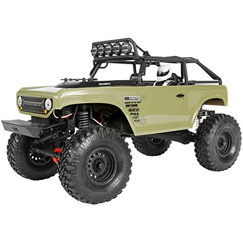 Axial SCX10 II Deadbolt 4WD RC Rock Crawler Off-Road 4x4 Electric RTR with 2.4GHz Radio, Waterproof ESC, 1/10 Scale (Olive Drab)