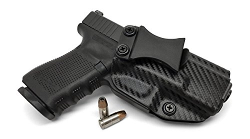Concealment Express IWB KYDEX Holster: fits Glock 17/19/22/23/26/27/31/32/33 (Gen 1-5) - US Made - Inside Waistband Concealed Carry - Adj. Cant/Retention (CF BLK, Right)