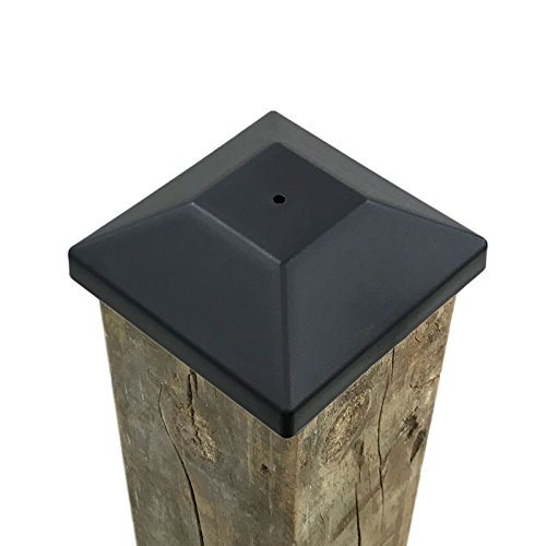 (32 Pack) New Wood Fence Post Black Caps 4X4 (3 5/8') for Pressure Treated Wood Made in USA