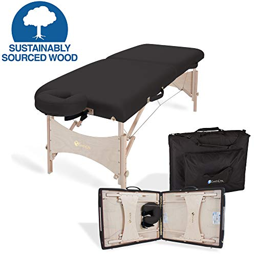 EARTHLITE Portable Massage Table HARMONY DX - Eco-Friendly Design, Hard Maple, Superior Comfort, Deluxe Adjustable Face Cradle, Heavy-Duty Carry Case (30' x 73')