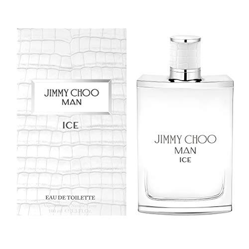 JIMMY CHOO Man Ice Eau De Toilette, Citrus Aromatic Woody, 3.3 Fl Oz