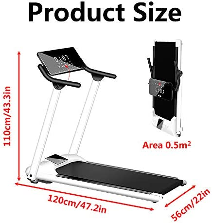 Foldable Treadmill for Walking Running Home, Treadmill Workout Machine Incline, 280LB Capacity 3