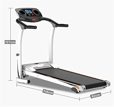 YFFSS Running Machines Intelligent Digital Folding Treadmill, Extended Safety Handrail, 5-Layer Safety Skid Track Portable Treadmill Running Jogging Gym Exercise Fitness 5