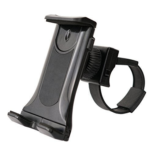 Sunny Health & Fitness Mobile Phone and Tablet Clamp Mount Holder for Bikes, Ellipticals, Treadmills and Other Handlebar Fitness Equipment