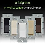 GE Enbrighten, White & Light Almond, Z-Wave Plus Smart Light Dimmer, Works with Alexa, Google Assistant, SmartThings, Wink, Zwave Hub Required, Repeater/Range Extender, 3-Way Compatible, 14294