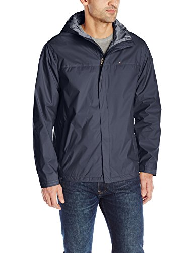 Tommy Hilfiger Men's Waterproof Breathable Hooded Jacket, Navy, X-Large