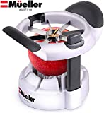 Mueller SpeedSlice Apple and Pear Slicer, 8 Slices, Attached Safety Cover Protect Fingers while In-Use and Blades while in Storage
