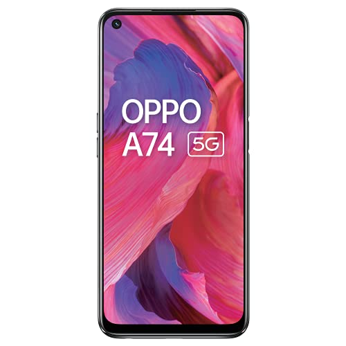 OPPO A74 5G (Fluid Black, 6GB RAM, 128GB Storage)| 5000 mAh | 18W Fast Charge | 90Hz Super Amoled Display