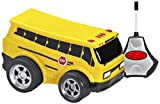 Kid Galaxy Squeezable RC School Bus. Remote Control Toy Car for Toddlers Age 2 and Up, Yellow
