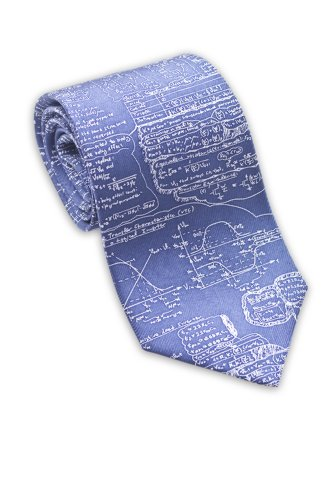 Josh Bach Mens Physics, Engineering, Math Formula Silk Necktie, Blue Made in USA