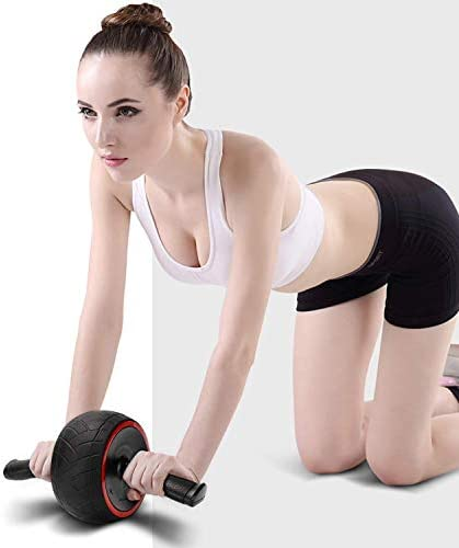 ACEmedia Ab Wheel Roller with Knee Pad Pro Fitness Equipment Ab Workout Machine Abdominal Wheel Exercise Equipment Home Gym Core Training 5