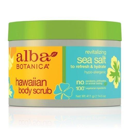 Alba Botanica Natural Hawaiian Body Scrub Sea salt, 14.5 oz (2 pack)