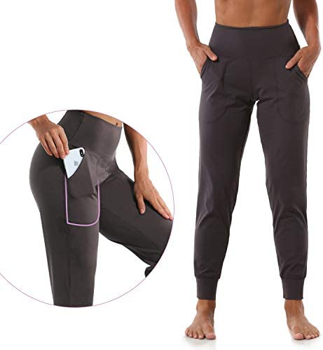 Mesily Women's Athletic Joggers High Waist Sweatpant Yoga Pant with Pockets for Workout Running 2