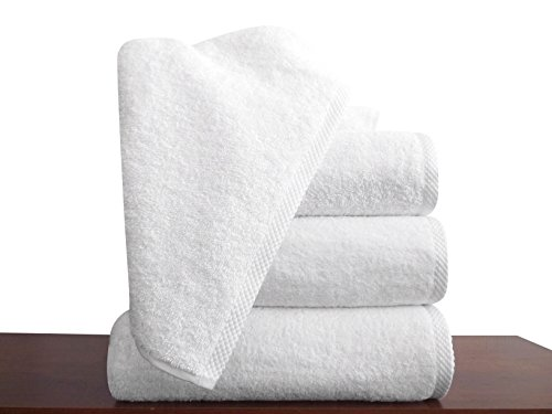 Classic Turkish Cotton Bath Towel Sets - Thick and Soft Terry Cloth Hotel and Spa Quality Bath Towels Made With 100% Turkish Cotton (27 x 54)