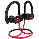 Mpow Flame Bluetooth Headphones Sport IPX7 Waterproof Wireless Sport Earbuds, Richer Bass HiFi Stereo In-Ear Earphones, 7-9 Hrs Playback, Running Headphones W/CVC6.0 Noise Cancelling Mic, Red