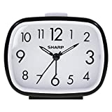 Sharp Retro Style Analog Alarm Clock - Battery Operated - Easy to Read