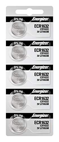 Energizer CR1632 3V Lithium Coin Battery (Pack of 5)