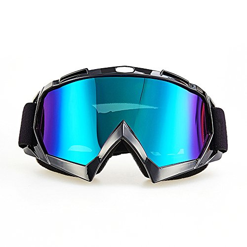 Motorcycle Goggles, CarBoss Anti UV Safety Eye Protection Anti-Scratch Dustproof Motocross Motorbike Goggle Great Idea for Snow Skiing, Cycling, Climbing, Riding & Outdoor Sports Eyewear Colorful Lens