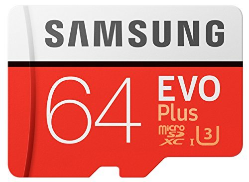 Samsung 64GB EVO Plus Class 10 Micro SDHC with Adapter (MB-MC64GA/AM)