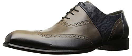 Jo Ghost Men's Ashby Oxford, Taupe/Blue, 8 US/8=41 M US