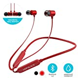 VMPALACE Bluetooth Headphones, Noise Cancelling Headphones with Microphone - Magnetic HD Stereo Wireless Headphones, IPX7 8 Hour Battery Waterproof Bluetooth Headset for Running Workout & Gym