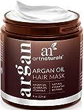 ArtNaturals Argan Hair Mask Conditioner - (8 Oz/226g) - Deep Conditioning Treatment - Organic Jojoba Oil, Aloe Vera & Keratin - Repair Dry, Damaged, Color Treated, Natural Hair Growth - Sulfate Free