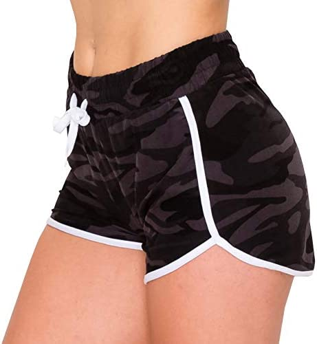 ALWAYS Women Workout Yoga Shorts - Premium Buttery Soft Stretch Athletic Running Dance Voleyball Short Pants with Stripes 1