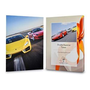 Activity Superstore Driving Experience Days Gift Experience Voucher – Double Supercar Taster – Get behind the wheel of two supercars and experience a high speed passenger ride! – Minimum age 17