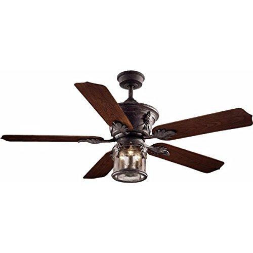 Hampton Bay Milton 52 In. Indoor/outdoor Oxide Bronze Patina Ceiling Fan by Hampton Bay