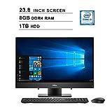 2019 Dell Inspiron 3000 23.8 Inch Full HD Touchscreen All-in-One Desktop (Intel Core i3-7130U 2.7GHz, Dual Cores, 8GB DDR4 RAM, 1TB HDD, WiFi, Bluetooth, HDMI, Windows 10) (Black)