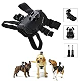 PULUZ Hound Dog Harness Adjustable Chest Strap Mount Belt Fetch Mount Compatible GoPro Hero 7/6/5/5 Session /4 Session /4/3+ /3/2 /1, Xiaoyi and Other Action Cameras (Dog Harness)