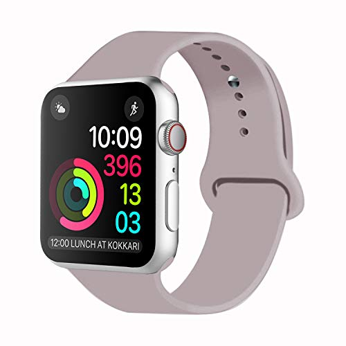 IDON Sport Watch Band, Soft Silicone Replacement Sports Band Compatible with Watch Band 2018 Series 4/3/2/1 38MM 40MM 42MM 44MM for Watch All Models