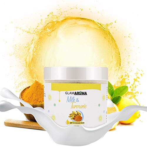 41JjN2icFIL GlamAroma Milk and Turmeric Massage Cream for men and women, Personal Care Cream for All Skin Types - 100gm