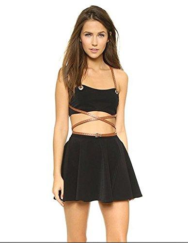 51WB0Q852QL Strappy bikini top Skirted bottom Lined