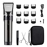 WONER Hair Trimmers, Quiet Cordless Rechargeable Hair Clippers, 16-piece Home Hair Cutting Kit, Body Hair Removal Machine for Women Father Mother Baby