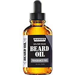 Fragrance Free Beard Oil & Leave in Conditioner, 100% Pure Natural for Groomed Beards, Mustaches, and Moisturized Skin 1 oz by Ranger Grooming Co by Leven Rose (Beard Oil)  Image 1