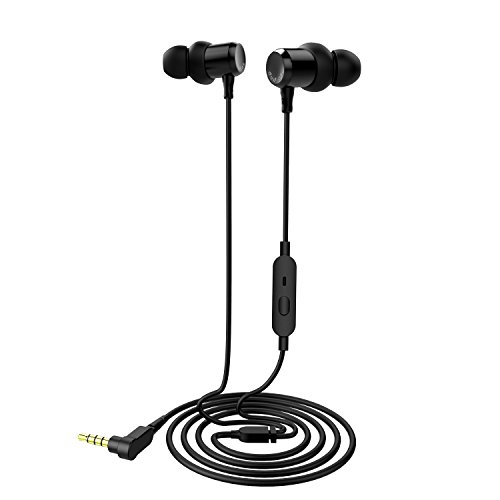 Dudios in-Ear Headphones Noise Cancelling Earphones Stereo Earbud Headphones, Crystal Clear Sound, Comfort-Fit, iPhone and Android Compatible - Black