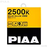PIAA 22-13411 H11 Solar Yellow Twin PACK-2500K-12V 55W, 2 Pack